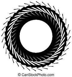 隔離された, 要素, 背景, 放射状, 幾何学的, 白, 円