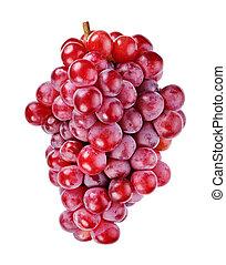 隔離された, 赤い白, ブドウ