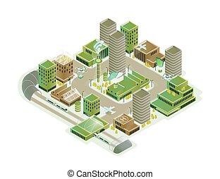 隔離された, 超高層ビル, 都市の景観, 技術, 下部組織, 輸送, やあ、こんにちは, カラフルである, 白, 革新, ベクトル, 現代, 背景, 等大, モデル, illustration., 創造的, 技術的である, 痛みなさい, 構成, 都市