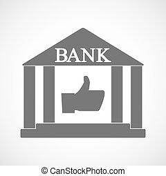 隔離された, 銀行, アイコン, ∥で∥, a, 「オーケー」, 手
