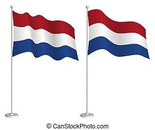 隔離された, element., wind., 揺れている旗, チェックポイント, symbols., 白, ...