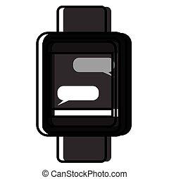 隔離された, smartwatch, アイコン