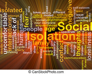 隔離, 發光, 概念, 背景, 社會