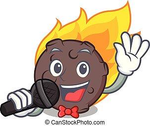 隕石, スタイル, 歌うこと, 漫画, マスコット