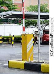 障壁, セキュリティー, 自動, 車