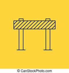 障壁, 印, イラスト, ベクトル, 交通, ブロック, 道