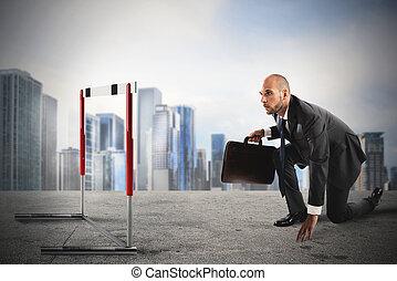 障害, 上に, ∥, ビジネス, 道
