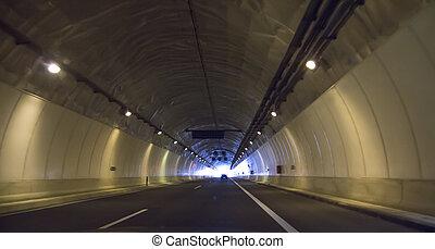 隧道, 向前, 高速公路