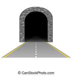 隧道, 路, 插圖, 一