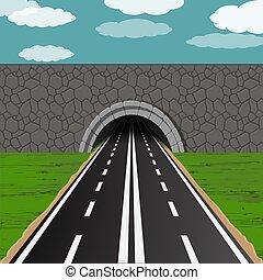 隧道, 路, 插圖