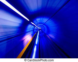 隧道, 透過