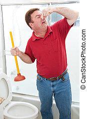 險惡, 浴室, 工作