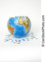 难题, 背景, 白色, 全球