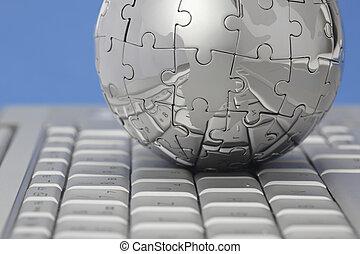 难题, 计算机, 金属全球, 键盘