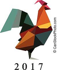 雄ん鶏, シルエット, イラスト, おんどり, ベクトル, origami