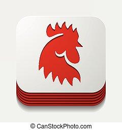 雄ん鶏, app, 農業, 鳥, concept: