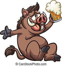 雄豚, ビール