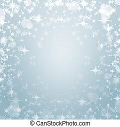 雅致, 天藍色, 聖誕節, 背景, 由于, 閃耀