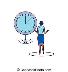 雅致, 婦女, 時間, 事務, 鐘