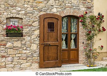 雅致, 木制的門