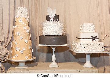 雅致, 蛋糕, 三, 婚禮
