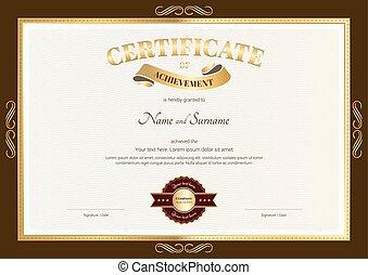 雅致, 證明, ......的, 成就, 樣板, 由于, 葡萄酒, 棕色的邊境