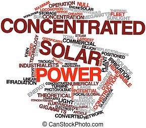 集中される, 太陽エネルギー