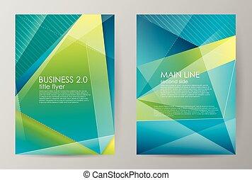 集合, 事務, 垂直, 小冊子, 現代, brochures., 摘要, 背景。, 矢量, 設計, 數字, 水平, templates., style., illustration.