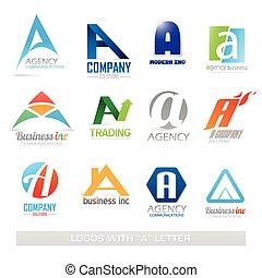 集合, 信, 商務圖標