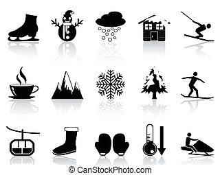 集合, 冬天, 圖象