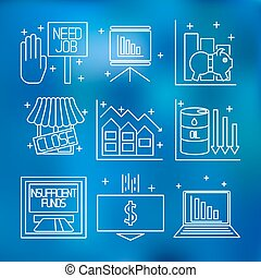 集合, 圖象, 上, a, 主題, ......的, 經濟, 危機