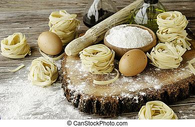 集合, 小麥, 烹調, 集中, 麵粉, 選擇性, 產品, 麵食