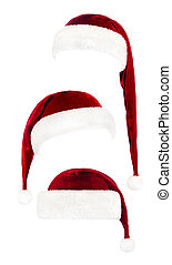 集合, 帽子, 克勞斯, 被隔离, 聖誕老人, 白色紅
