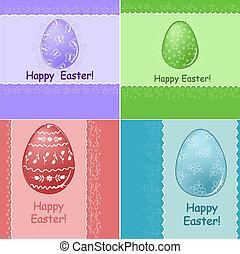 集合, 復活節, 問候, 卡片