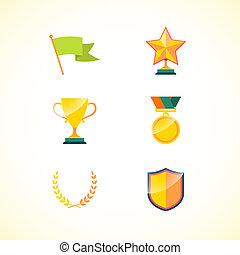 集合, 成就, 徽章