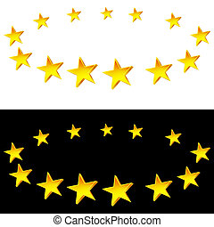 集合, 星, 容光