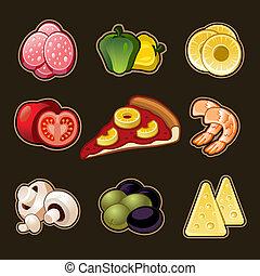 集合, 比薩餅, 圖象