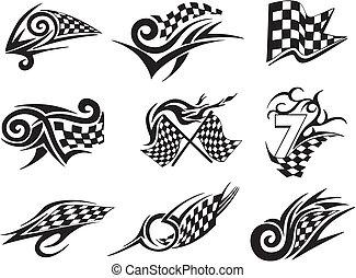 集合, ......的, 參加比賽, 紋身, 由于, 交替變換, 旗