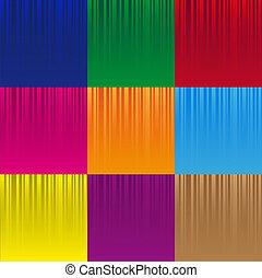 集合, ......的, 各種各樣, 顏色, 有條紋, 摘要, 圖案, eps10