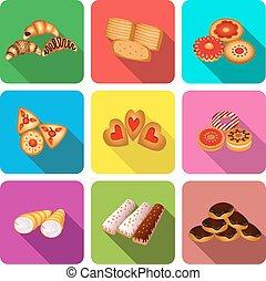集合, ......的, 圖象, 上, a, 主題, 曲奇餅, 蛋糕