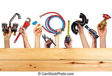 集合, ......的, 建設, tools.