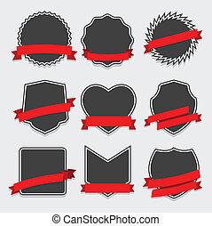 集合, ......的, 徽章, 以及, 標籤