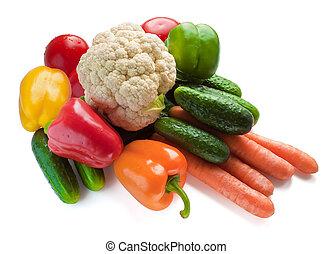 集合, ......的, 新鮮的蔬菜