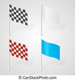 集合, ......的, 旗