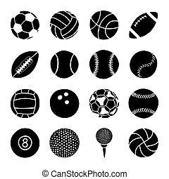 集合, ......的, 運動, 球