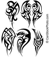 集合, ......的, 部落, 紋身
