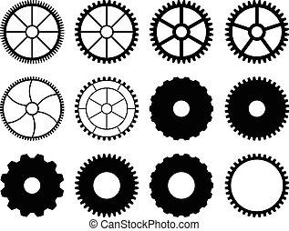 集合, ......的, 齒輪