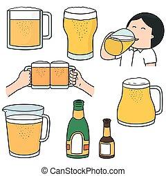 集合, 矢量, 啤酒