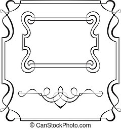 集合, 矢量, 框架, 為, 設計