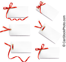 集合, 禮物, 筆記, 弓, 紅牌